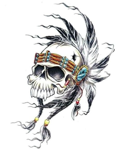34 best indian skull tattoo designs images on pinterest