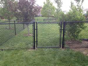 Black Vinyl Fencing 4′ tall black vinyl chain link Chainlink