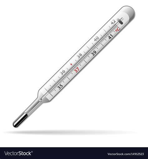 Termometer Merkuri thermometer a glass mercury thermometer vector image