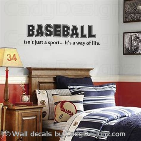 Baseball Room Decor Baseball Vinyl Wall Decal Sports Room Decor Childrens