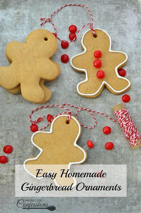 diy ornaments recipe easy gingerbread ornaments my recipe confessions