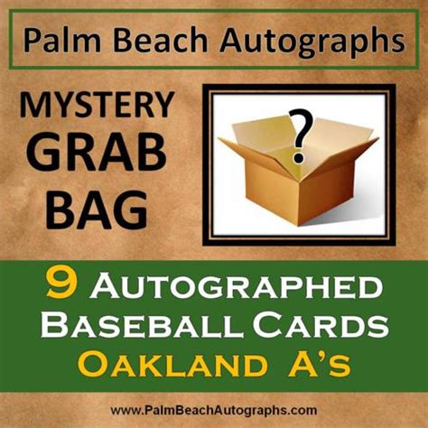 Oakland A S Gift Card - mystery grab bag 9 autographed baseball cards oakland a s