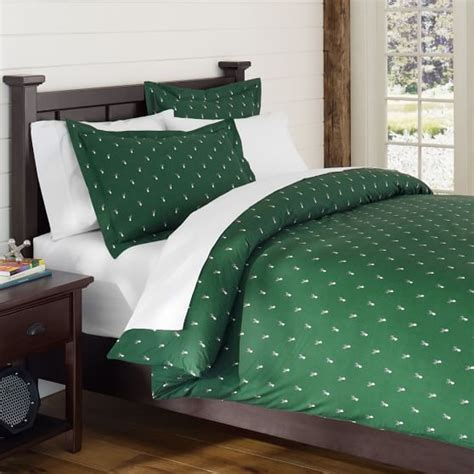 dark green bedding creature comfort duvet cover sham deer dark green pbteen