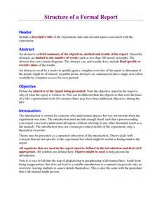 Official Report Writing Exles by Formal Report Writing Exle