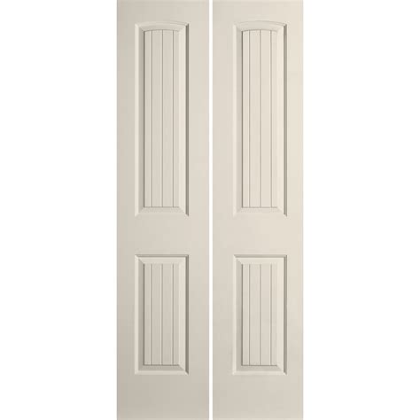 Bifold Interior Door Reliabilt 29 1 2 In X 79 In 2 Panel Hollow Composite Interior Bifold Closet Door Lowe S