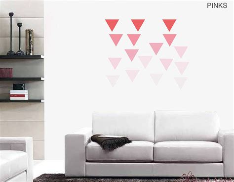 modern wall stickers large geometric triangle vinyl wall stickers
