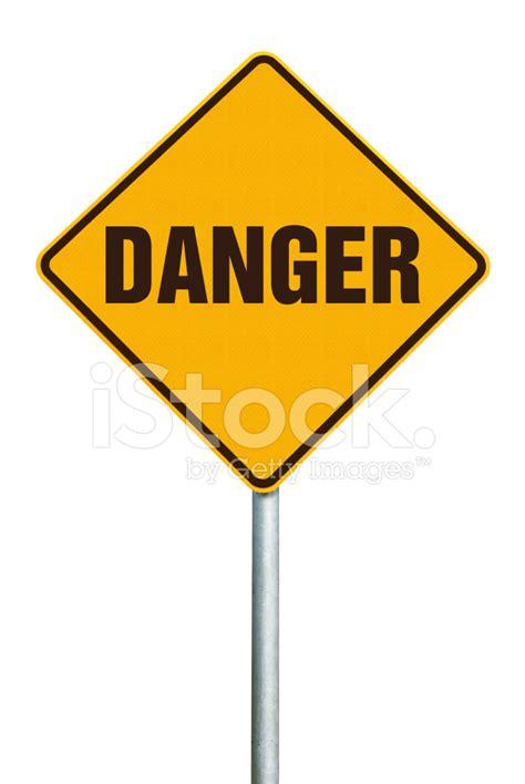 Danger White by Danger Orange Warning Sign On White Background