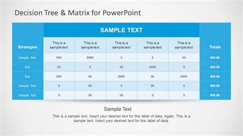 Decision Tree Matrix Template For Powerpoint Slidemodel Matrix Powerpoint Template