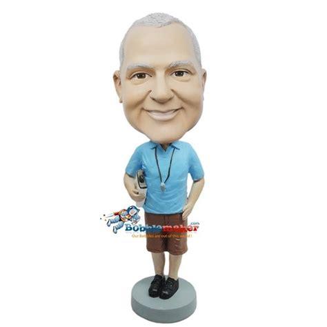 bobblehead dolls custom coach in shorts custom bobblehead doll