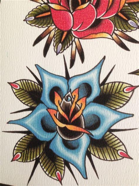 rose old school tattoo best 25 school ideas on traditional