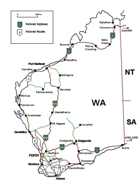 map of western australia with cities and towns map of western australia at wottodo au