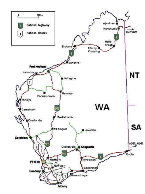 printable maps western australia map of western australia at wottodo com au