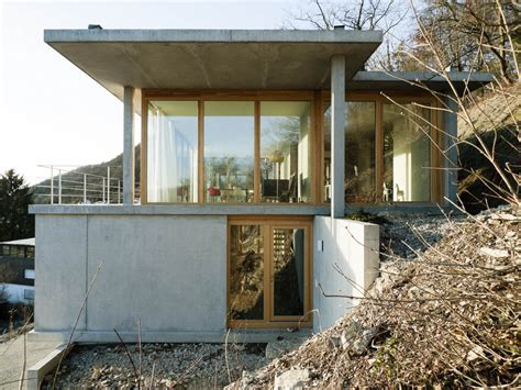 house on slope house on a slope gian salis architect archdaily