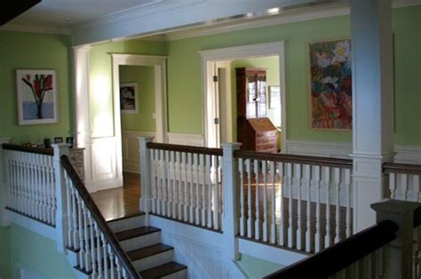Two story foyer/second floor hallway   Transitional   Hall