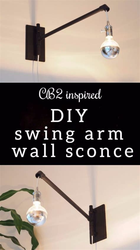 diy swing arm cb2 inspired swing arm wall sconce diy montreal