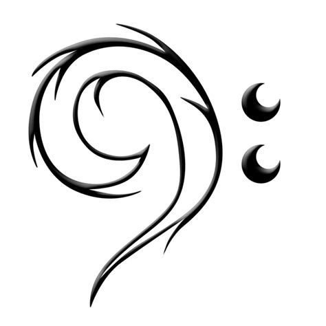 bass clef tattoo clipart best