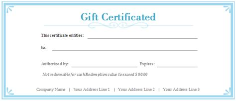 free customizable gift certificate template what is the best gift certificate template in word 2007