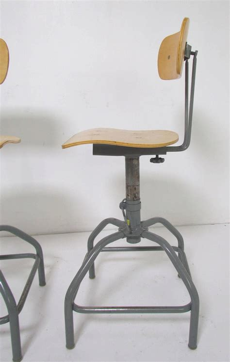 Adjustable Bar Stools For Sale by Set Of Three Industrial Adjustable Height Laboratory Bar