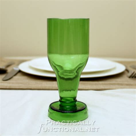 recycled beer bottle goblets