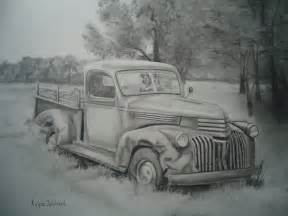 paintings by kalyne soldanels pencil drawing of an truck