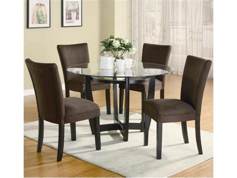 Gala Futons And Furniture by Modern 5 Pc Glass Table 4 Microfiber Chairs Dining Set Furniture Stores