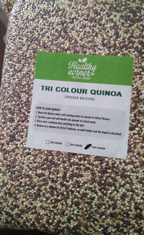 Organic Tri Color Quinoa 250 Gr quinoa tri colour 250 gr healthy corner jual makanan