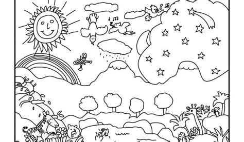 7 days of creation coloring pages high resolution coloring