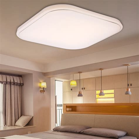 square led light fixtures 36w led dimmable square ceiling light flush mount