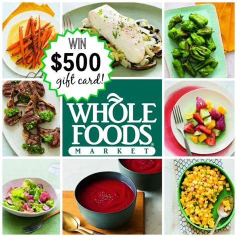 Gift Cards Whole Foods - win 500 gift card to whole foods rubies radishes