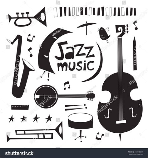 pictures of musicians jazz instruments illustration www imgkid the image