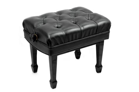 jansen piano benches jansen artist piano bench vinyl top ebony finish