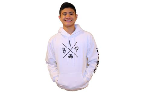 hoodie pigale 1 dealldo merch cotton hoodie white featuring the new quot x quot logo youth