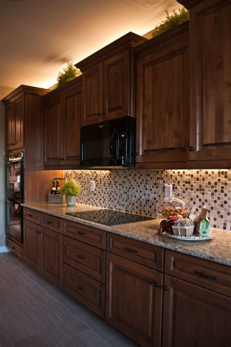 Rope Lights Above Cabinets In Kitchen Kitchen Lighting Ideas With Inspired Led Kitchens And House
