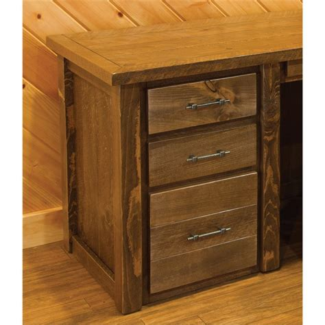 wood desk with hutch barn wood style executive desk with hutch