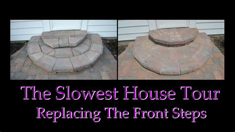 how to build a house all the steps in sections constructing entry steps using wall pavers youtube