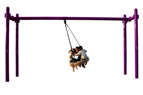 5 Quot Double Post Tire Swing Playground Swings