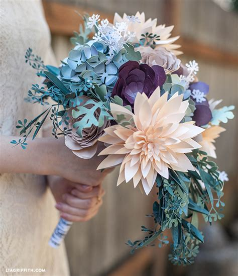 How To Make Paper Flower Bouquet For Wedding - diy rustic paper bridal bouquet bridal bouquets