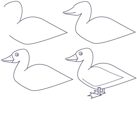 how to draw ducks drawing duck