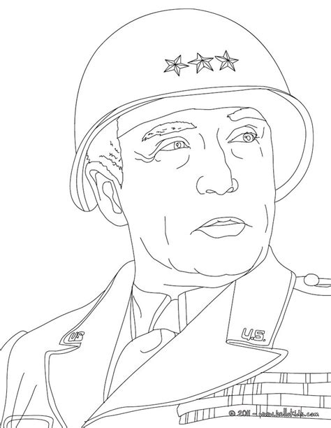General George Patton Coloring Pages Hellokids Com General Coloring Pages