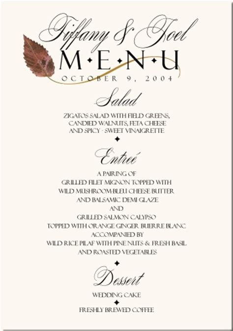 buffet menu ideas for weddings fall wedding menu cards wedding menus fall wedding menu wedding menu cards and