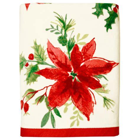 christmas towels bathroom christmas holiday poinsettia red winter bath towel towels washcloths