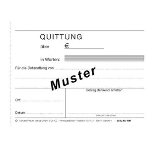 Vorlage Rechnung Heilpraktiker quittungen f 252 r heilpraktiker din a6 1045