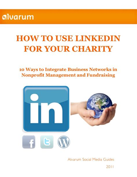 Nonprofit Nus Mba Linkedin by How To Use Linkedin For Your Charity
