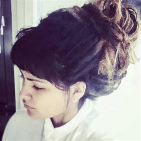 Bun With Bangs Hairstyles by 20 Bun Hairstyles With Bangs Hairstyles Haircuts 2016