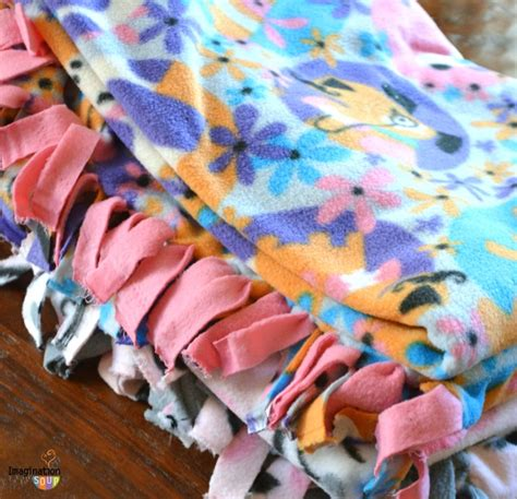 No Sew Fleece Quilt Blanket by No Sew Fleece Blanket Imagination Soup