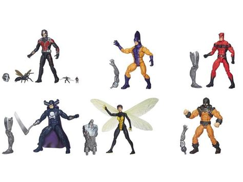Mainan Figure Kidslogic Antman Marvel Set 6 buy figure marvel legends 15cm figure ant set of 6 with ultron build a