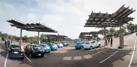 Electric Cer Awnings by Solar Pv To Ev At San Diego Zoo