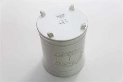 mud pie 4931002 kitchen canister set of 3 white buy mud pie circa kitchen baking cooking door knob ceramic