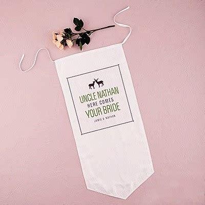 wedding accessories banner weddingstar personalized woodland style linen ceremony