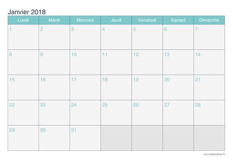 Calendrier 2018 Janvier Calendrier Janvier 2018 224 Imprimer Icalendrier